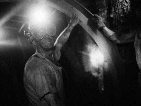 Mark Power - The Shot I Never Forgot - coal miner working in colliery looking towards camera