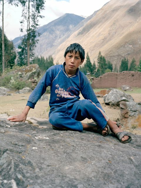 Julian Ward - The Shot I Never Forgot - Peru 2006 - portrait of boy in landcape