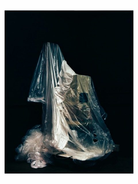 John Spinks - The Shot I Never Forgot - photographic enlarger covered by dust sheet
